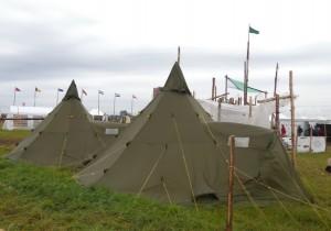 De nye telte er med på lejr for første gang