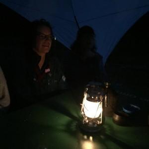 Aftenhygge i lejren
