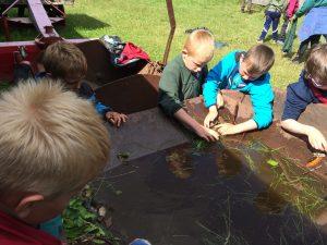 Drengene fandt lidt vand, nogle pinde, nogle blade - så var der en leg.