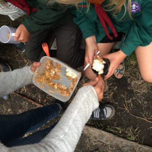 Æblekage til hygge ved lejrbålet